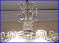 178b STUNNING arT Deco Vintage Antique Ceiling Lamp Fixture Glass Chandelier