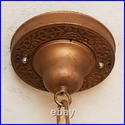 457 Vintage Antique 30 aRT Nouveau Ceiling Light lamp fixture chandelier 1 of 2
