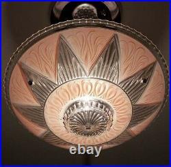 513 Vintage antique arT Deco Glass Ceiling Light Lamp Shade Chandelier