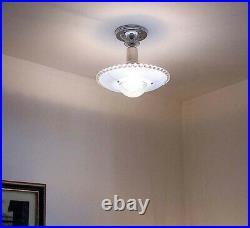 546 Vintage antique arT Deco Ceiling Light Lamp Fixture Glass Shade Chandelier
