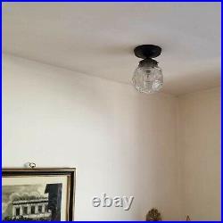 546b Vintage Antique ArT DEco Ceiling Light Lamp Fixture Porch Hall 1 of 3