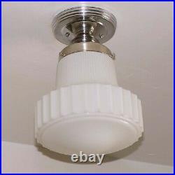 710 Vintage Antique art deco Ceiling Light Lamp Fixture bath Hall