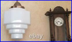 725b Vintage aRT DEco CEILING LIGHT lamp fixture pendant Skyscraper antique