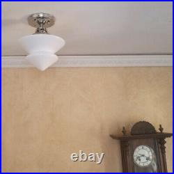 852 Vintage Antique art deco Ceiling Light Glass Shade Lamp Fixture hall bath