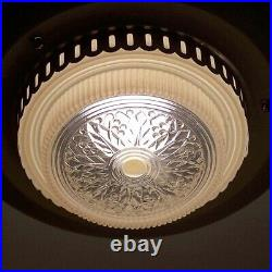 942 Vintage Antique Ceiling Art Deco Light Lamp Fixture Streamline Chanderler