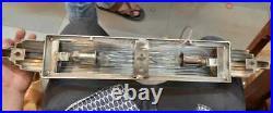 Antique Vintage Art Deco Chrome Brass & Glass Rod Ship Light Wall Sconces Lamp