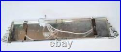 Antique Vintage Art Deco Nickel Brass & Glass Rod Ship Light Wall Sconces Lamp