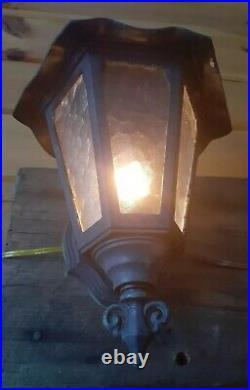 Antique/Vtg Gothic Arts Crafts Cast Wall Sconce Light/Lamp Fixture, Tudor, 5 Avail