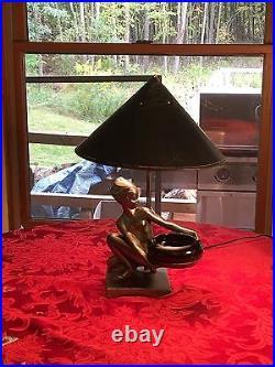 FRANKART Original Rare, Authentic, Vintage, Excellent, Art Deco Nude Lamp, Modern