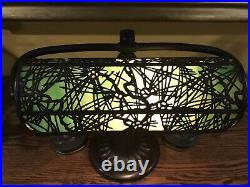 Handel Arts Crafts Slag Glass Mission Antique Vintage Desk Lamp Tiffany Era