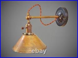 Industrial Lighting Vintage Brass Wall Sconce Steampunk Lamp Art Deco Light