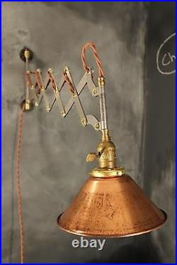 Industrial Lighting Vintage Scissor Lamp Accordion Sconce Light Art Deco