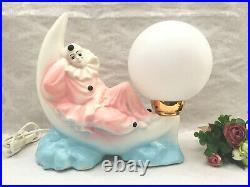Lampe Decorative Atypique Ceramique Pierrot De La Lune Vintage Art Deco 1970/80