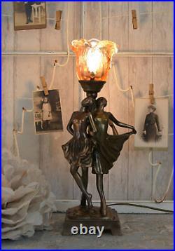 Leuchte Art Deco Tänzerin Tischlampe Vintage Tischleuchte Lampe Nachttischlampe