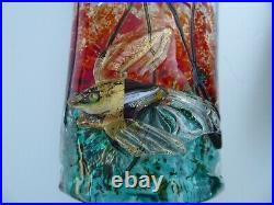PAIR BARBINI AFREDO SCONCES FISH TANK MURANO 1950s VINTAGE ART GLASS CENEDESE