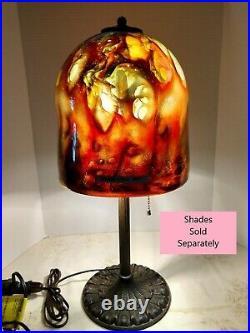 VTG Art Deco Nouveau Arts & Craft Working 2-Light Table Lamp Bronze 1900-1940 #1