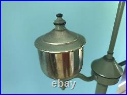 VTG GREEN TOLEWARE ARM FLOOR LAMP LIGHT STENCILED Art & Crafts PA Dutch Amish EC