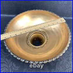 Vintage 13 Art Deco Torchiere Gold Luster Iridescent Glass Floor Lamp Shade