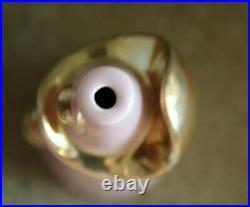 Vintage 1950's Mid Century Kron Pink Gold Abstract Ceramic Art Lamp Base