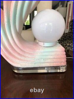 Vintage Art Deco Cascading Waves Lamp