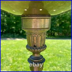 Vintage Art Nouveau Deco MCM Mid Century Brass Stiffel Torchiere Floor Lamp