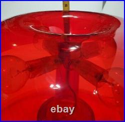 Vintage Artemide Nessino Table Lamp RED Modern Design Art Moderne
