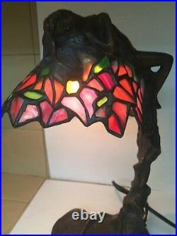 Vintage E Thomasson Art Nouveau Bronze Daphne Lamp