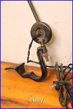 Vintage Edon industrial Light articulating lamp drafting table Cast Iron Bracket