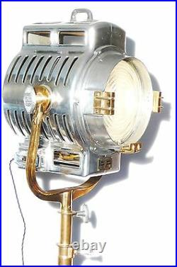 Vintage Film Light Industrial Antique Studio Lamp Mole Richardson 210 Art Deco