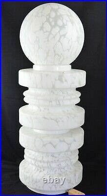 Vintage Italian White Ventri Art Cloud Gigantic Lamp 34 Tall