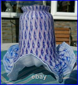 Vintage Murano Opaline Cased Art Glass Light Lamp Shade Hand Made #1