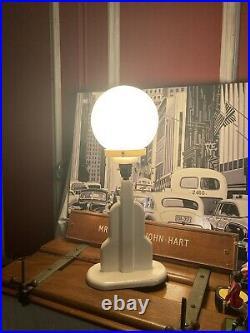 Vintage Skyscraper Lamp Art Deco Mid Century Aged Paint