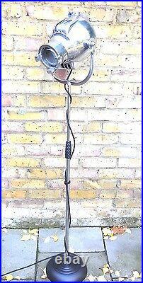 Vintage Theatre Film Spot Light Studio Floor Standing Lamp Art Deco Strand 23