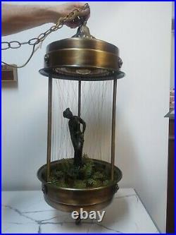 Vintage XL 34 Hanging Rain Oil Lamp Nude Greek Goddess Rare Double String