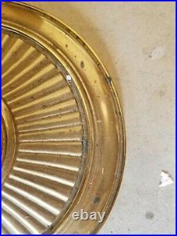 Vtg Stiffel Brass Floor Lamp Art Deco Torchiere Style 3 Arm, 4 Bulb, 58 Tall