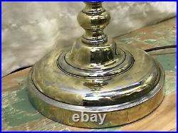 Vtg Stiffel Torchiere Floor Lamp Mid Century Hollywood Regency Art Deco Gold MCM